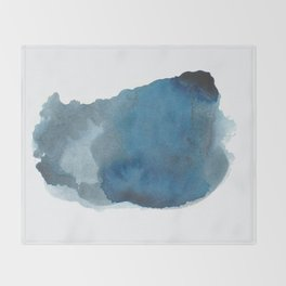 Available: dark abstract blue painting Throw Blanket