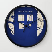 doctor who Wall Clocks featuring Doctor Who by LukeMorgan