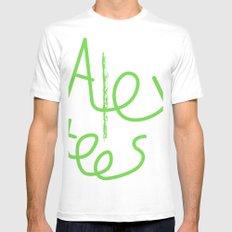 Alex cool tees Mens Fitted Tee MEDIUM White