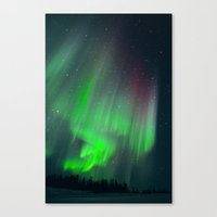 northern lights Canvas Prints featuring Northern Lights by Identi3 Profiling