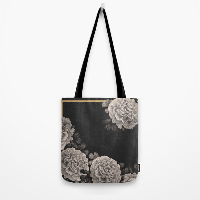 Flowers on a winter night Tote Bag