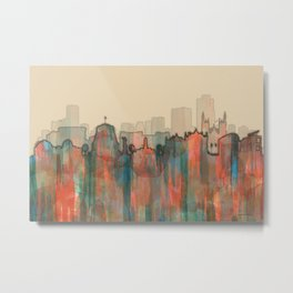 Wellington City Skyline, NZ - Navaho Metal Print