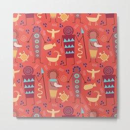 Tribal Tapestries- Ancestors Metal Print