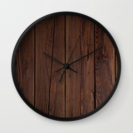 Rustic Dark Brown Wood Photography Wall Clock