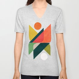 Reflection (of time and space) Unisex V-Neck