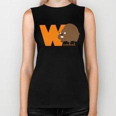 w for wombat Biker Tank
