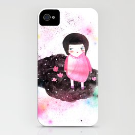 Girl in Cloud iPhone Case