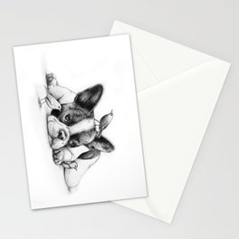 Frenchie and the Birds Stationery Cards