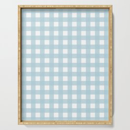 Farmhouse Gingham in Dusty Blue Serving Tray