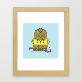 Backpack Framed Art Print