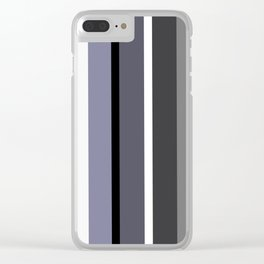 Grey stripes pattern Clear iPhone Case