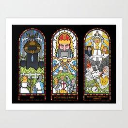 Windows of Aaarrgggh Art Print