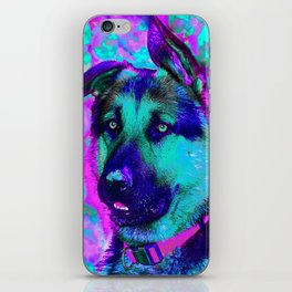 Artistic Dog Expression iPhone Skin