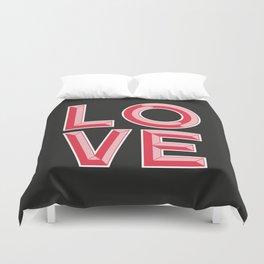 LOVE - Beveled Typography Duvet Cover