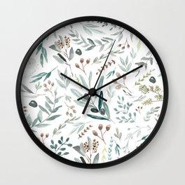 Eucalyptus Leaf Wall Clock