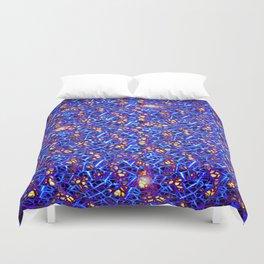 Blue Sub-atomic Lattice Duvet Cover