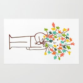 I bring flowers Rug