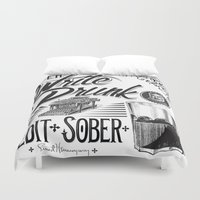 write Duvet Covers featuring Write Drunk. Edit Sober by Ryan Huddle House of H