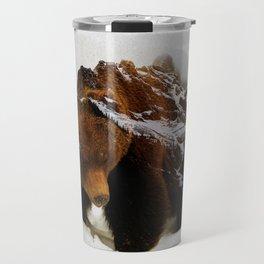Bear In The Mountains Travel Mug