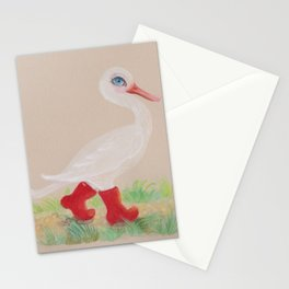 a Snozzleberry Swan excursion Stationery Cards