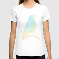 T-shirts featuring The Iridescent Raven by Rick Crane