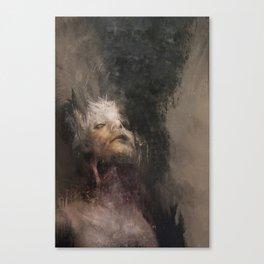 Decapitation won't stop the unrelenting demons Canvas Print