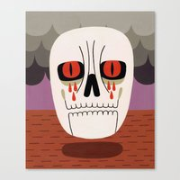 fear Canvas Prints featuring Fear by Jack Teagle
