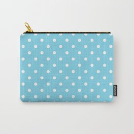 Girls just wanna have dots - teal white Carry-All Pouch