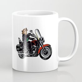 Wolf on the motorcycle Coffee Mug