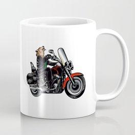 Wolf on the motorcycle Coffee Mug