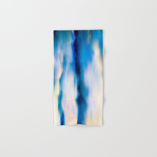 Abstract Blue Falling Water Hand & Bath Towel