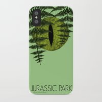 jurassic park iPhone & iPod Cases featuring Jurassic Park Minimalist by Kozicki Photography