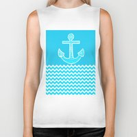 anchor Biker Tanks featuring Anchor by haroulita