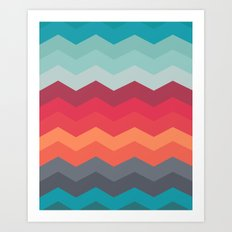 Color strips pattern Art Print