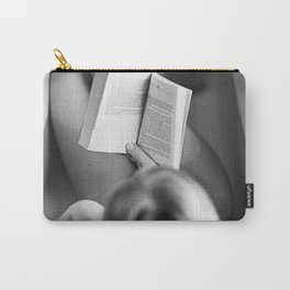 The Well-read Woman (reading in the bathtub) black and white photography Carry-All Pouch
