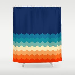 80s flat palette Shower Curtain