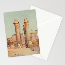 Cane, Ella du (1874-1943) - The Banks of the Nile 1913, The Shoe Bazaar, The Colonnade at the Te Stationery Cards