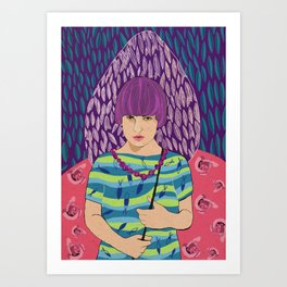 Just me Art Print