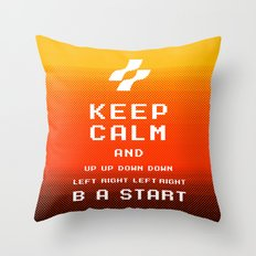 keep calm konami. Throw Pillow