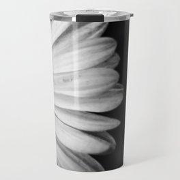 Black and White Flower Macro photography monochromatic photo Travel Mug