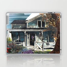 House, Vintage Mixed Media Photograph by Seattle Artist Mary Klump Laptop & iPad Skin
