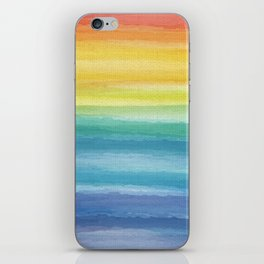 Watercolor Rainbow_ iPhone Skin