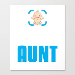 New Aunt Gift Achievement Unlocked Aunt Present for First Time Aunt Canvas Print