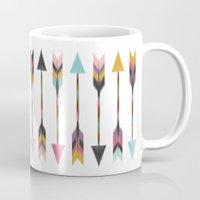 bohemian Mugs featuring Bohemian Arrows by Bohemian Gypsy Jane