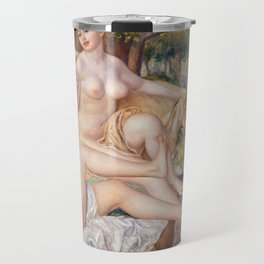 Les Grandes Baigneuses (The Large Bathers) by Auguste Renoir Travel Mug
