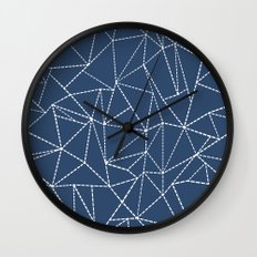 Ab Dotted Lines Navy Wall Clock