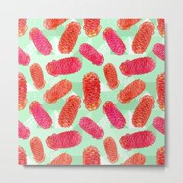 Australian Native Floral Print - Beehive Ginger Metal Print