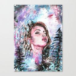 The cold breath Canvas Print