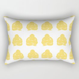 Pale Yellow Asian Moods Buddha Boys Rectangular Pillow