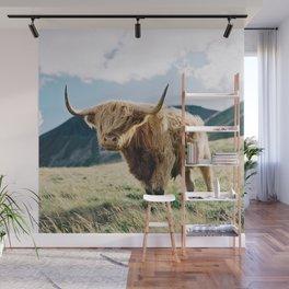 Portrait of a Highland Coo Wall Mural